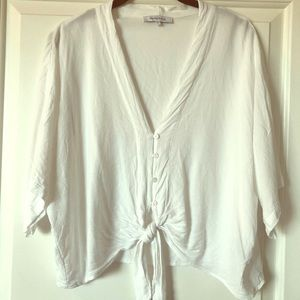 Olivaceous White Crop Tie Top LARGE